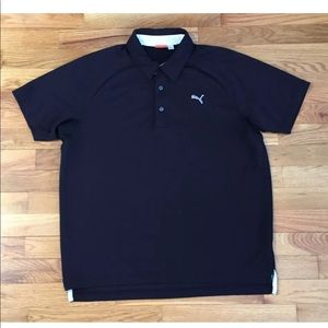 Puma Short Sleeve Golf Polo Black Shirt Men's S